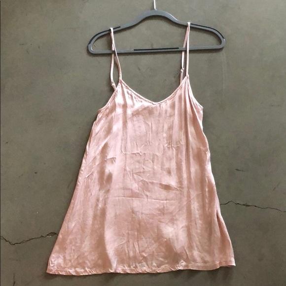 the indigo child Dresses & Skirts - Pink silk slip dress